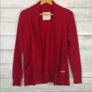 Hollister - Red Open Front Cardigan - Large